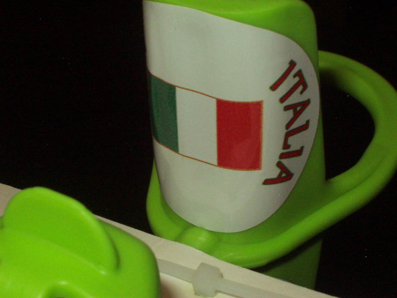 Team Italia Sticker-Head piece flag